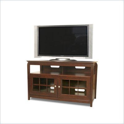 "Tech-Craft Veneto 48"" Hi-Boy Wood LCD/Plasma TV Stand in Rich Walnut Finish"
