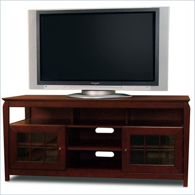 "Tech-Craft Veneto 60"" Hi-Boy Walnut Wood LCD/Plasma TV Stand"