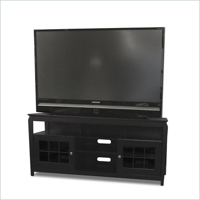 Tech-Craft Veneto 60&quot; Hi-Boy Black Wood LCD/Plasma TV Stand
