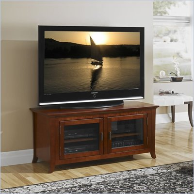 Tech-Craft Veneto Series 50 Inch Wide Plasma/LCD TV Stand in Walnut