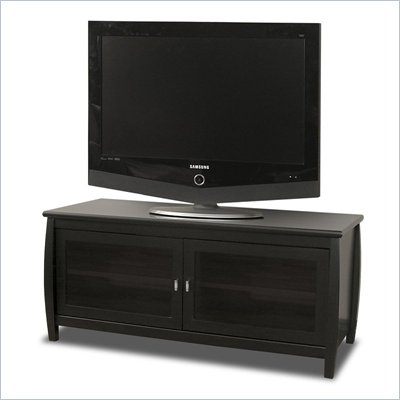 Tech-Craft Veneto 48&quot; Black Wood LCD/Plasma TV Stand