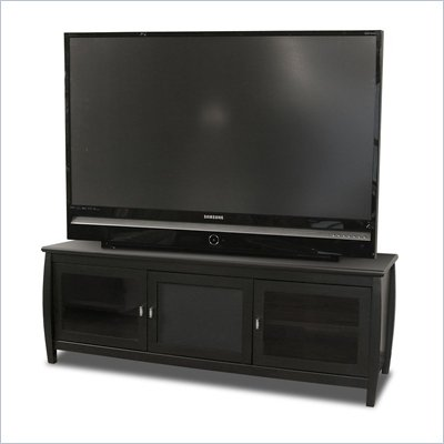 "Tech-Craft Veneto 60"" Black Wood LCD/Plasma TV Stand"