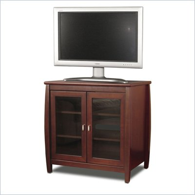 "Tech-Craft Veneto Series 30"" Walnut Tall Boy LCD/Plasma Wood TV Stand"