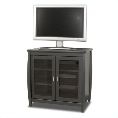 Tech-Craft Veneto Series 30&quot; Black Wood Hi-Boy Plasma TV Stand