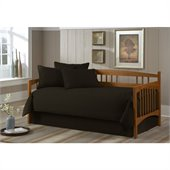 Southern Textiles Paramount Solid Black Twin 5-pc Daybed Ensemble