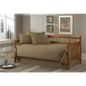 Southern Textiles Paramount Solid Khaki Twin 5-pc Daybed Ensemble 