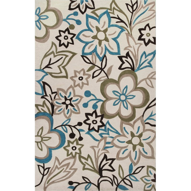 KAS Bali 3'3 x 5'3 Hand-Tufted Rug in Ivory 1606358