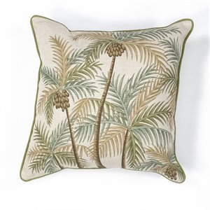 "KAS 18"" Square Hand-Made Pillow in Natural - PILL12618SQ"