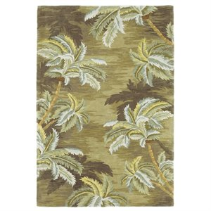 "KAS Sparta 2'6"" x 10' Hand-Tufted Wool Runner Rug in Moss..."