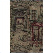 Blazing Needles Tapestry Full Size Futon Cover in Café de Paris