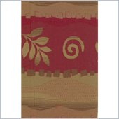 Blazing Needles Tapestry Full Size Futon Cover in Squiggles and Leaves