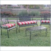 Blazing Needles Set of 3 Outdoor Settee Patio Cushions