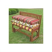 Blazing Needles Solid 4' Patio Bench/Swing Cushion