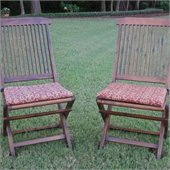 Blazing Needles Standard Set of 2 Folding Lawn Chair Cushions in Print