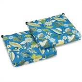 Blazing Needles Set of 2 Outdoor Adirondack Chair Cushions in Print