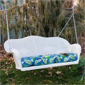Blazing Needles Outdoor Wicker Porch Swing Cushion