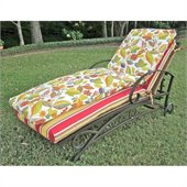Blazing Needles Outdoor Patio Chaise Lounge Cushion