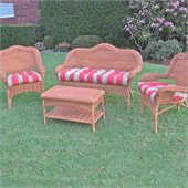 Blazing Needles Set of 3 Outdoor Wicker Settee Cushions