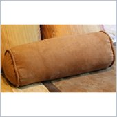 Blazing Needles 2 Piece Micro Suede Corded Bolster Cushion Set