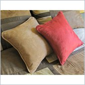 Blazing Needles 18 Micro Suede Throw Pillow with Cording Set