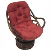 Blazing Needles Standard Swivel Rocker Micro Suede Cushion