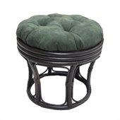 Blazing Needles 18 Footstool Micro Suede Cushion