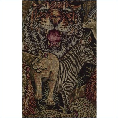 Blazing Needles S/5 Tapestry Futon Cover Package in Safari