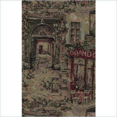 Blazing Needles S/5 Tapestry Futon Cover Package in Caf&#233; de Paris