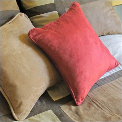 Blazing Needles Premium 20&quot; Indoor Micro Suede Pillow Package