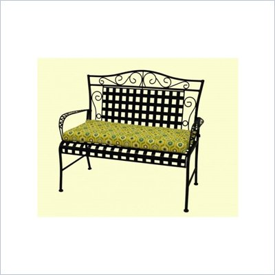 Blazing Needles 5' Patio Bench/Swing Cushion in Print