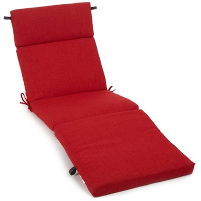 Blazing Needles 74&quot; Patio Chaise Lounge Cushion