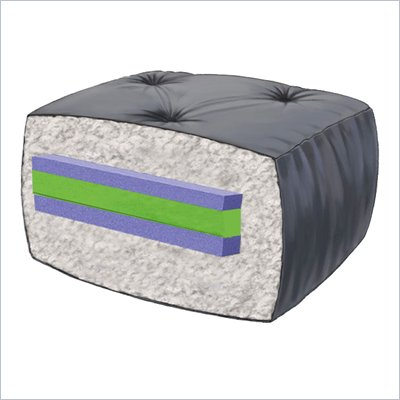 "Blazing Needles 6"" Full Size Futon Mattress (Tapestry)"