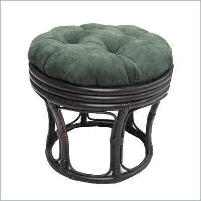 "Blazing Needles 18"" Footstool Micro Suede Cushion"