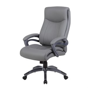 Boss Office Double Layer Executive Chair in Gray