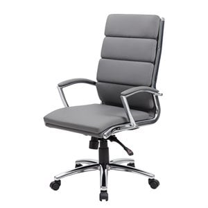 Boss Office CaressoftPlus Executive Chair in Gray