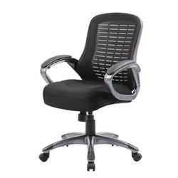 Boss Office Ribbed High Back Mesh Chair in Black