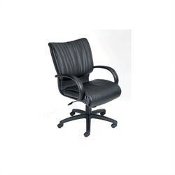 Boss Office Products Mid-Back Modern LeatherPlus Executive Office Chair