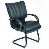 Boss Office Products Modern LeatherPlus Guest Chair with Cantilever Base