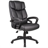 Boss Office Products Overstuffed Executive Leather Chair