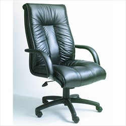 Boss Office Products Contemporary High-Back Leather Office Chair