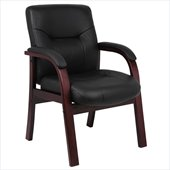 Boss Office Products Italian Leather Guest Chair