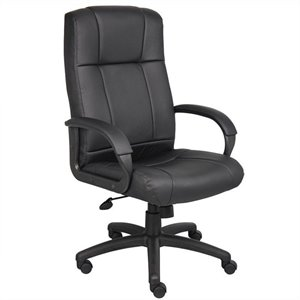 Boss Office Products Modern Executive High Back Office Chair in Black