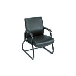 Boss Office Products Caressoft Executive Guest Chair with Sled Base