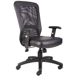 Boss Office Products Ventilation Web Mesh Back Task Office Chair in Black