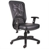 Boss Office Products Ventilation Web Mesh Back Task Chair in Black
