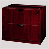 Boss Office Products 2 Drawer Lateral File Wood Cabinet in Mahogany