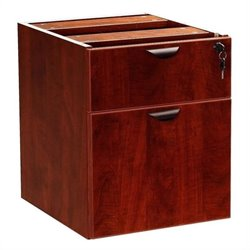 Boss Office Products Lateral Wood Hanging File Cabinet in Mahogany