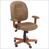 Boss Office Products Mid-Back Ergonomic Task Chair in Cappuccino Microfiber