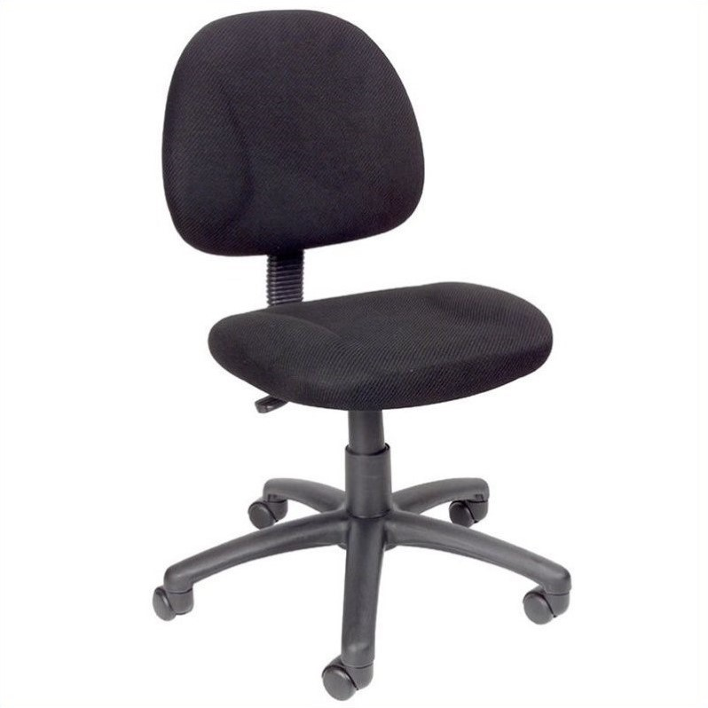 Adjustable DX Fabric Posture Office Chair in Black