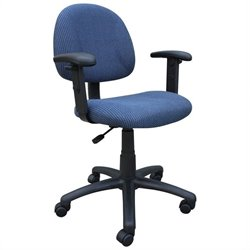 Boss Office Products DX Posture Office Chair with Adjustable Arms in Blue